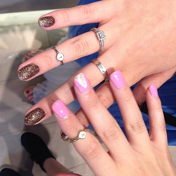 Bella Thorne's new rings (and manicure!) deserved a snap. Source: Instagram user bellathorne