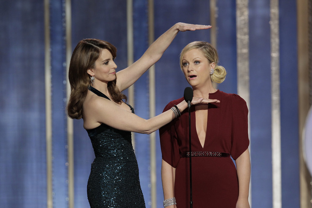 "Tina and Amy killed it as Golden Globes hosts. Their opening monologue included jokes like Amy's quip: ""It was a great year for women in film — Kathryn Bigelow, nominated tonight. I haven't really been following the controversy over Zero Dark Thirty, but when it comes to torture, I trust the lady who spent three years married to James Cameron."" And Tina tickled our funny bone with this line: ""This next presenter is so good-looking, he makes young George Clooney look like garbage. Please welcome, middle-aged George Clooney."""