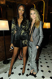 Smoldering models Jourdan Dunn and Cara Delevingne kicked off Fashion Week at The London Edition hotel.