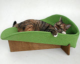 With a cozy, taco-like shape, this kitty bed ($89) is bound to become a feline favorite very quickly.