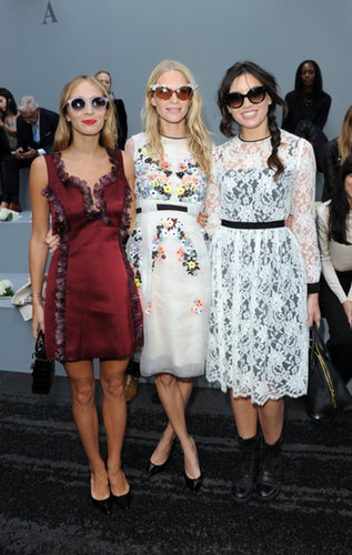 Harley Viera-Newton, Poppy Delevingne, and Daisy Lowe were sitting pretty at Erdem's front row.