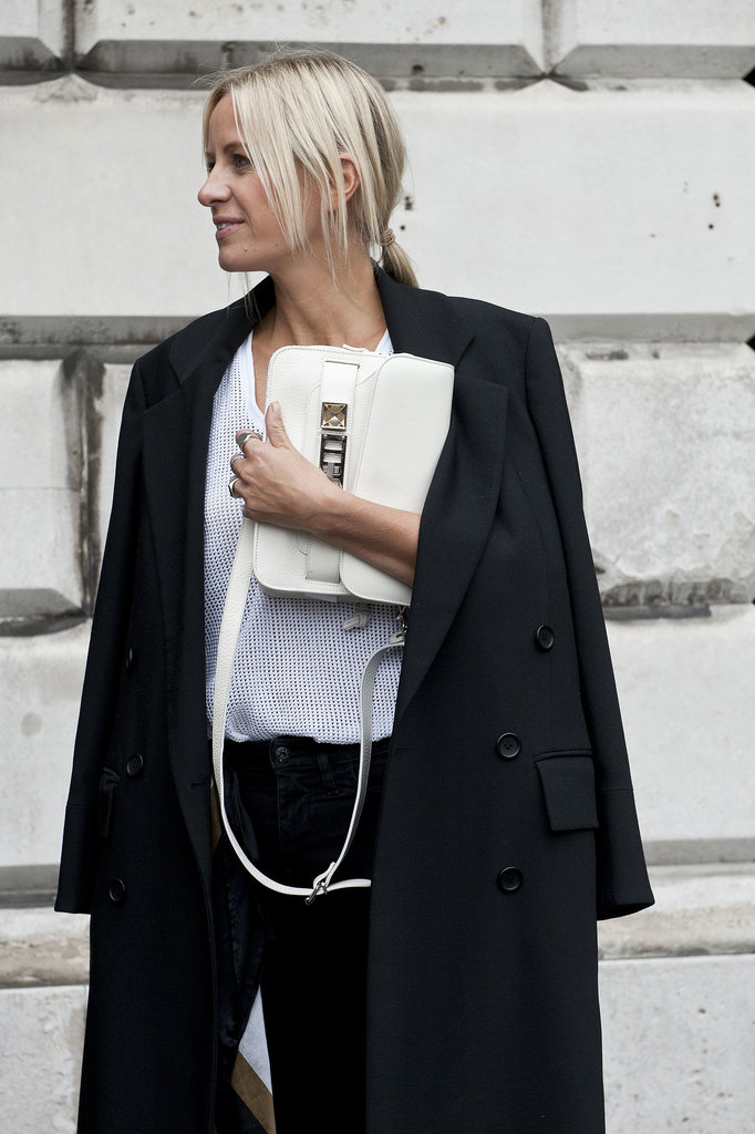 We don't blame her for being so hands-on with her ultrachic Proenza Schouler bag.