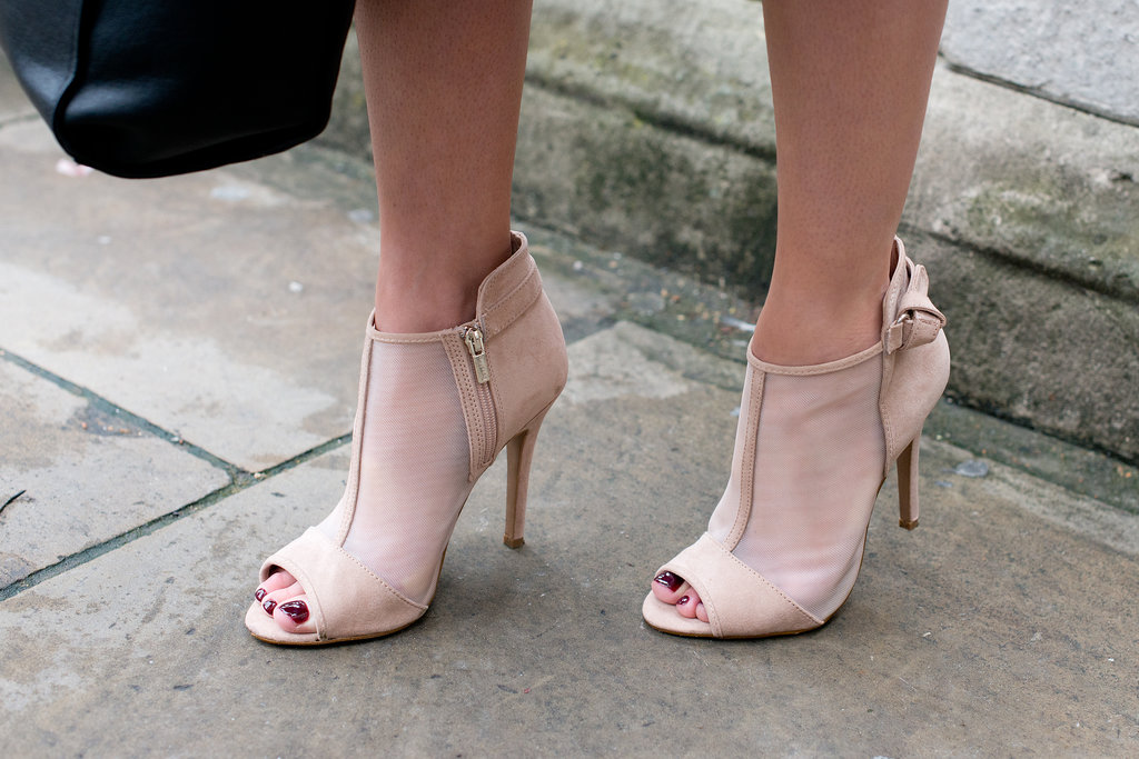 An open-toed bootie may very well be the best kind of transitional footwear.