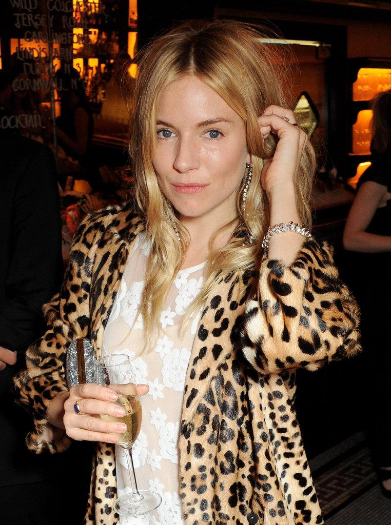 Sienna Miller at the British Vogue dinner.