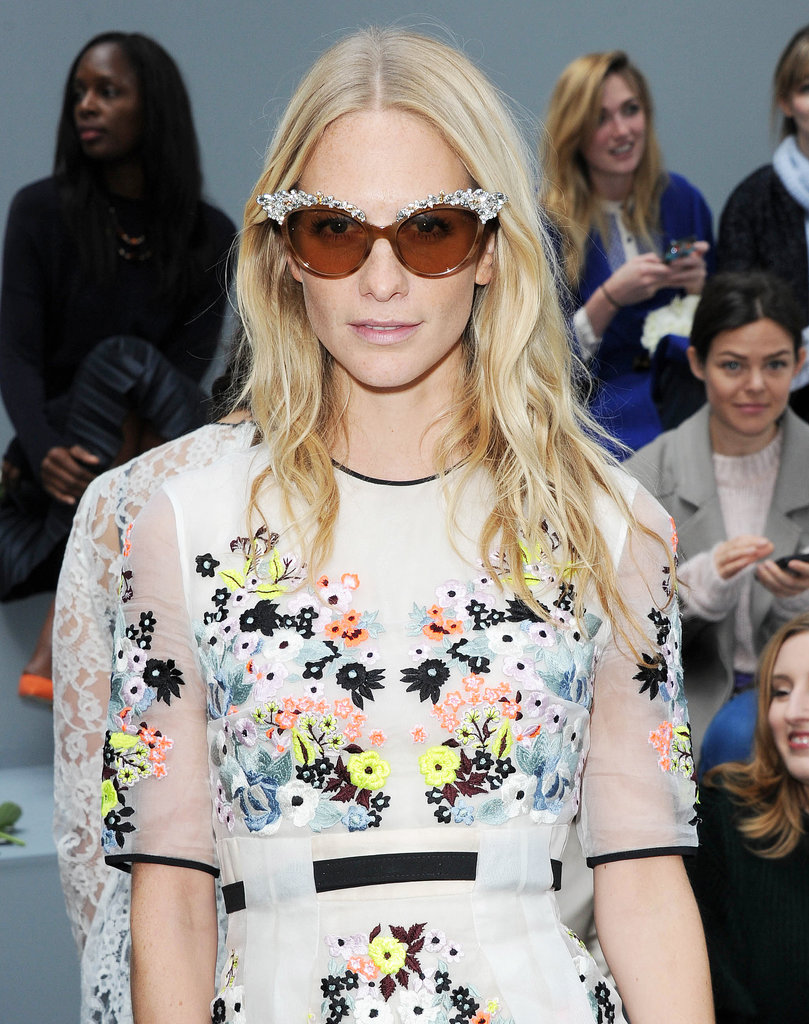 Poppy Delevingne at Erdem Spring 2014.