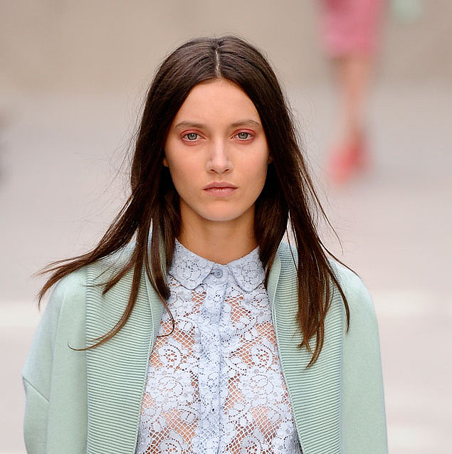 Runway beauty at Burberry Prorsum Spring 2014.
