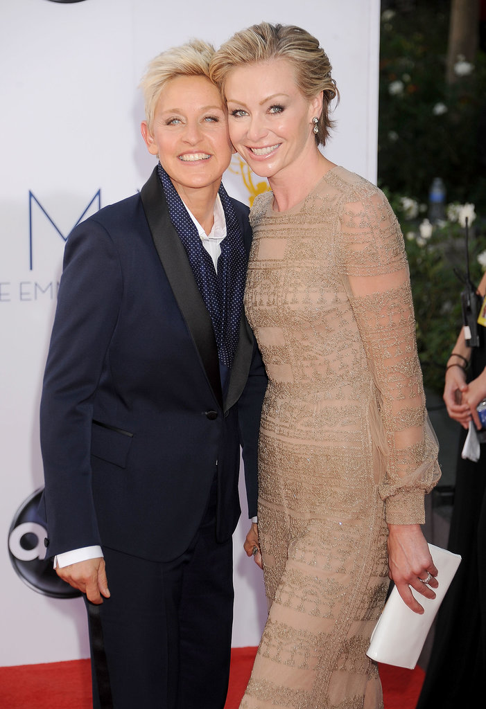 Ellen DeGeneres and Portia de Rossi cozied up to one another on the red carpet in 2012.