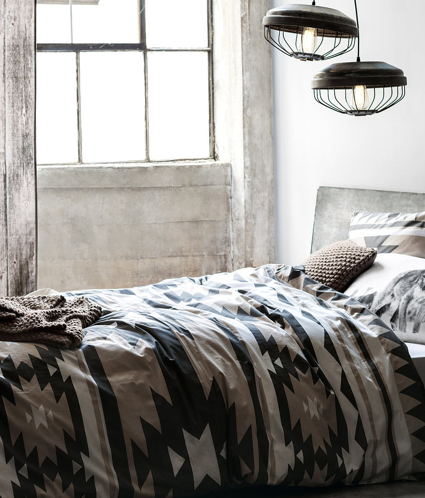 Western is given an urban turn in this patterned duvet ($25) that blends modern simplicity with rich Autumn tones.