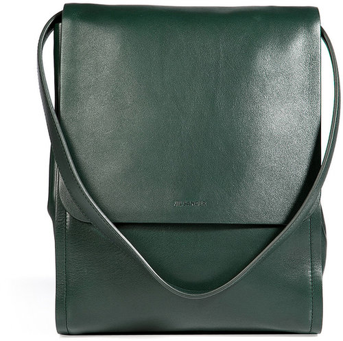 Jil Sander Leather Bag in Bottle Green