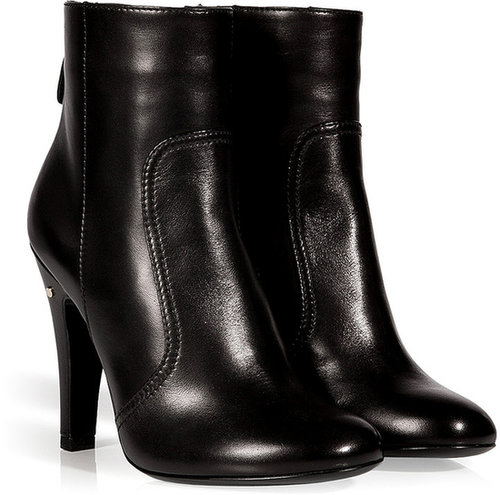 Laurence Dacade Stretch Leather Sao Ankle Boots in Black