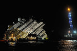 The Costa Concordia cruise ship was successfully righted around 4 a.m. local time.