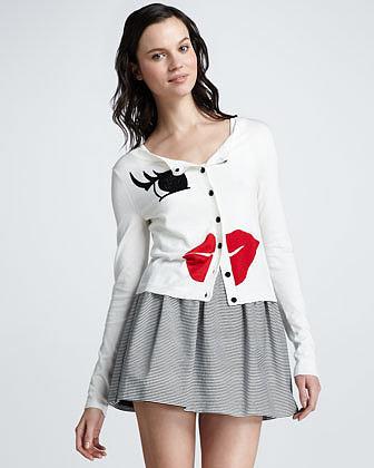 Alice + Olivia Francys Striped A-Line Skirt