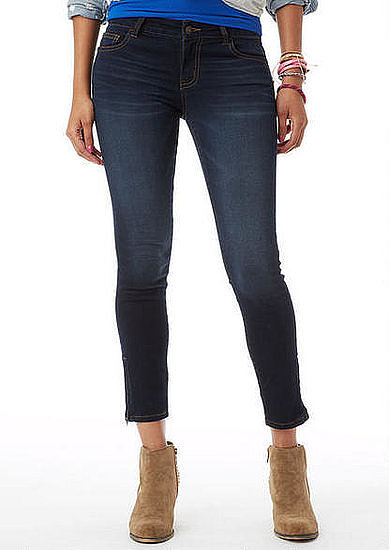 Zippered and ankle-cropped, these Delia's Olivia dark-wash jeggings ($47) are right on trend for Fall.