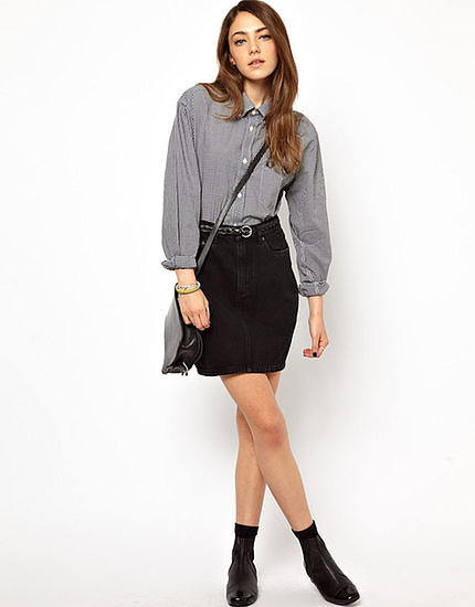 Never underestimate the versatility of a black denim skirt, like this Monki denim skirt ($34).