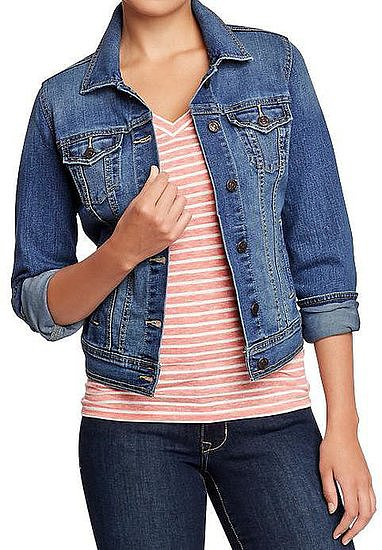 Nothing like a classic jean jacket, a la this Old Navy topper ($30) to finish off your Fall wardrobe.