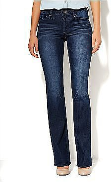 We love the dark wash and bootcut fit of these New York & Co. curvy bootcut jeans ($50).