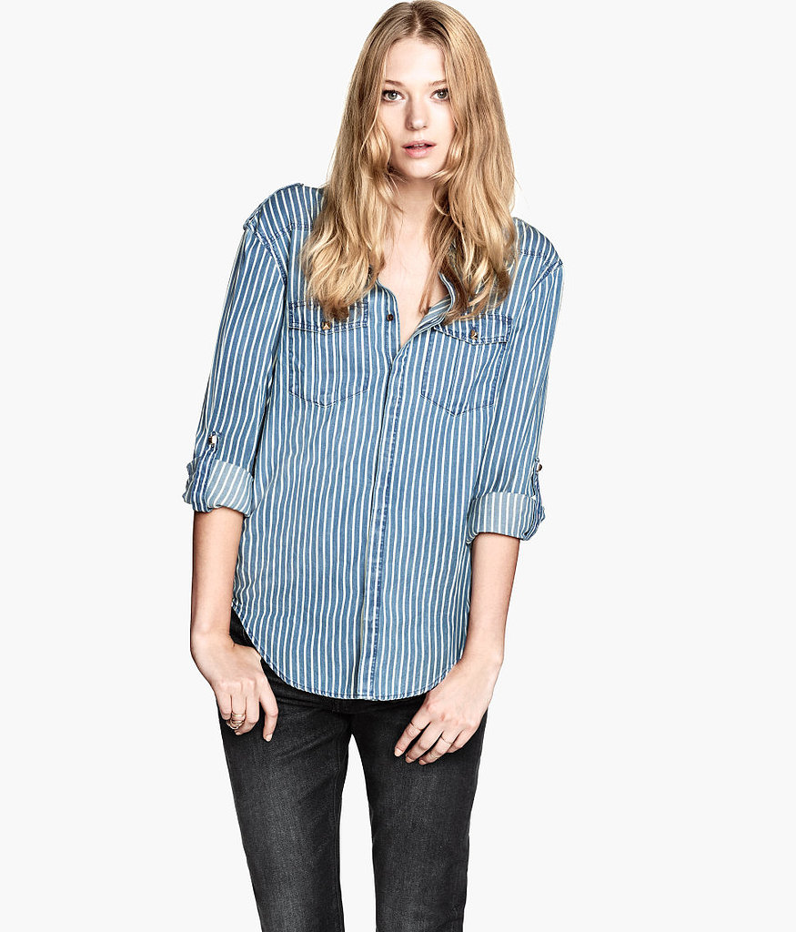 The studs and stripes make this H&M shirt ($30) worth adding to your