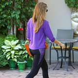 Which TV Star Was Spotted in Purple Workout Clothes Today?