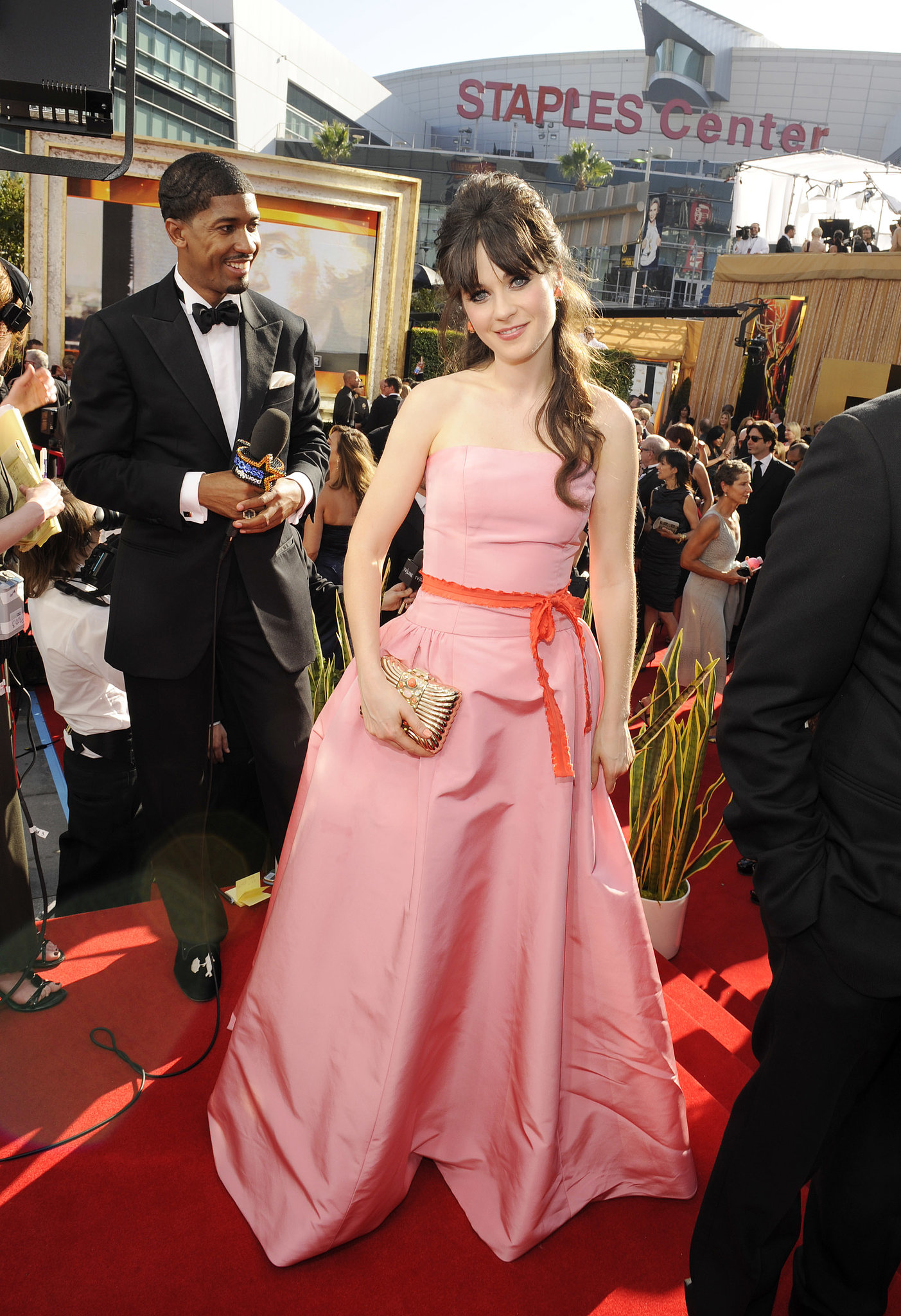 Zooey Deschanel wore pink to the 2011 ceremony.