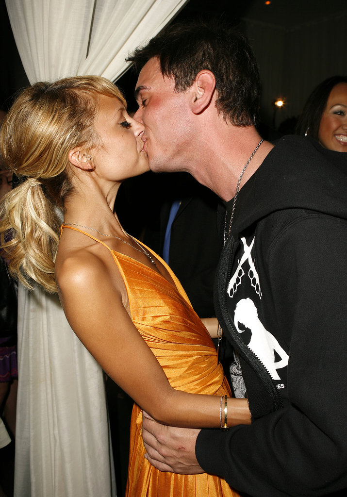 Nicole Richie and DJ AM (who was then her fiancé) packed on the PDA during his surprise birthday party in Las Vegas in April 2006.