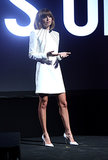Nicole Richie spoke on stage during AOL's Digital Content NewFronts while promoting her online show, Candidly Nicole, in April 2013.