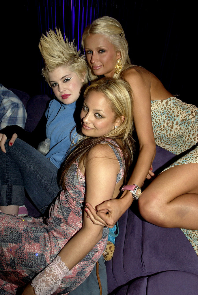 Before they headed to a rural farm town for the first season of The Simple Life, Fox threw Nicole Richie and Paris Hilton a bon voyage bash that was attended by their celeb pals, including a mohawk-wearing Kelly Osbourne, in April 2003.