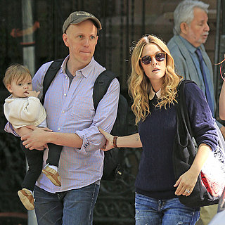 Drew Barrymore at Jimmy Fallon's Birthday With Baby Olive
