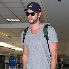 Liam Hemsworth at LAX Airport After Miley Cyrus Split