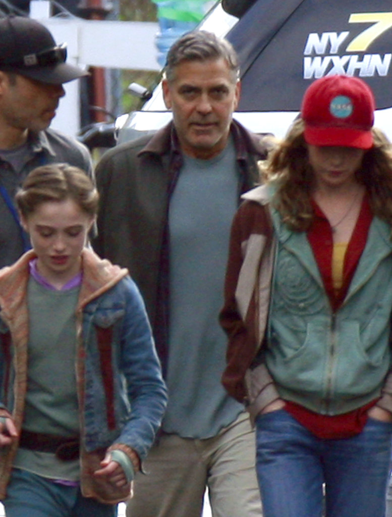 George Clooney hit the set of Tomorrowland on Wednesday.
