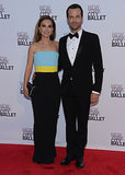 Natalie Portman posed for photos with her ballet dancing husband, Benjamin Millepied.