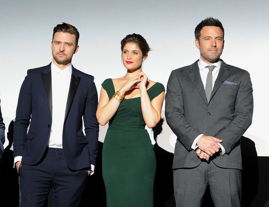 Justin Timberlake, Gemma Arterton, and Ben Affleck introduced their film.