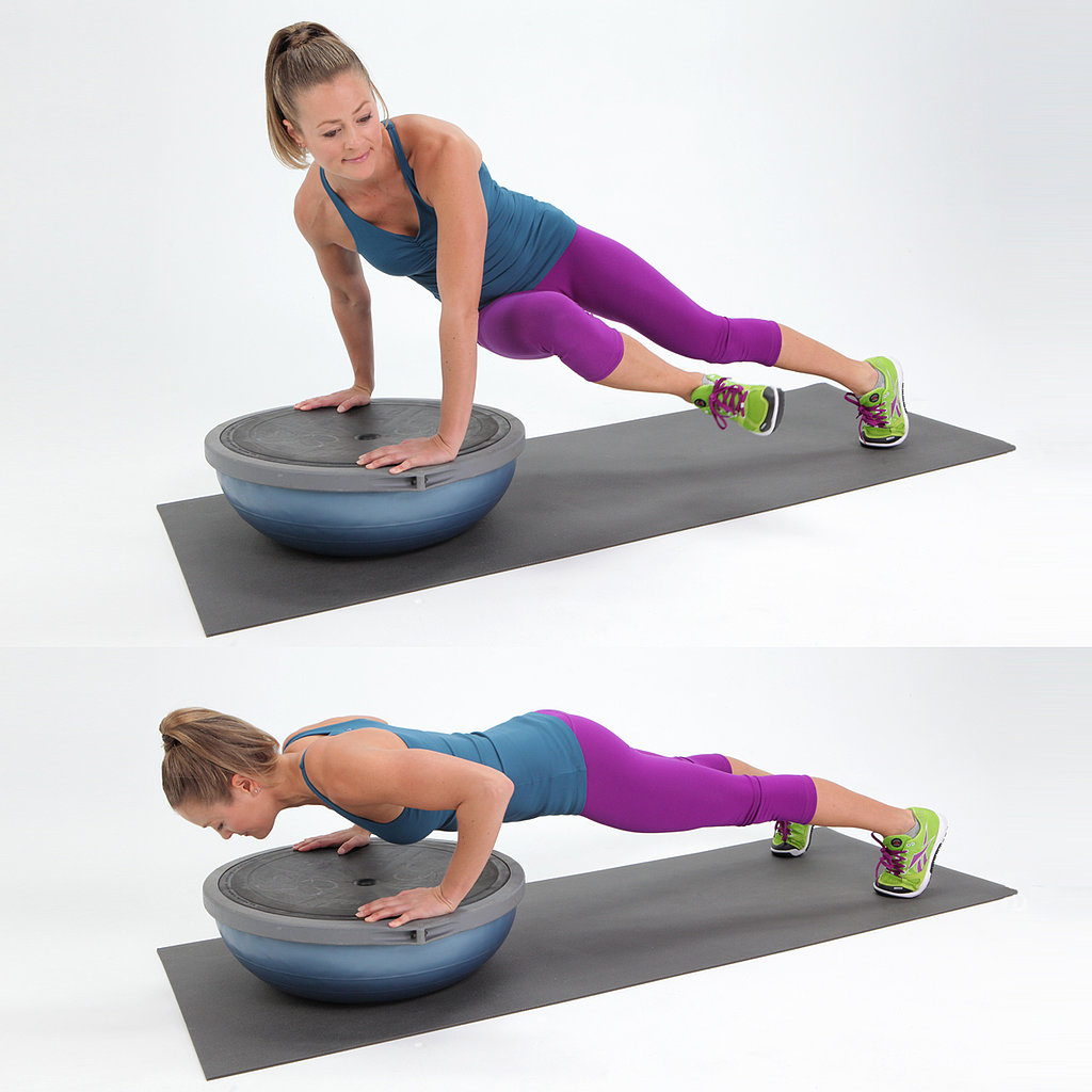 BOSU Push-Up With a Twist