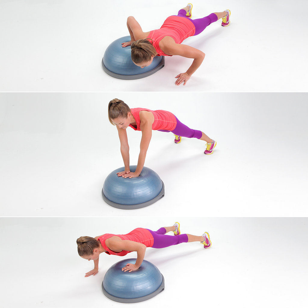 Side-to-Side BOSU Push-Ups