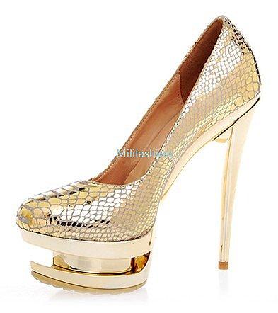 Fashion Light gold sexy high heel shoes_High shoes_Fashion shoes_Mili fashion Trade Co.Ltd