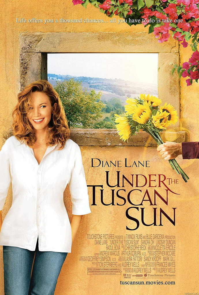 Under the Tuscan Sun (2003) follows a writer who takes a trip to Italy after finding out her husband has been cheating on her. On a whim, she buys a villa hoping the move will shake up her life, and the beautiful countryside isn't the only thing that captivates her heart.