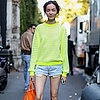 Model Street Style Milan Fashion Week