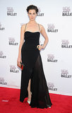 Elettra Wiedemann was at her most smoldering in a high-slit black gown.
