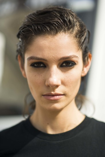Matted hair and loads of black liner equal nouveau grunge.  Source: Le 21ème | Adam Katz Sinding