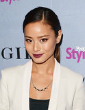We'll be replicating Jamie Chung's bordeaux lips and sleek, side-parted ponytail again and again this Fall. It's simple, fast, and easy to do.