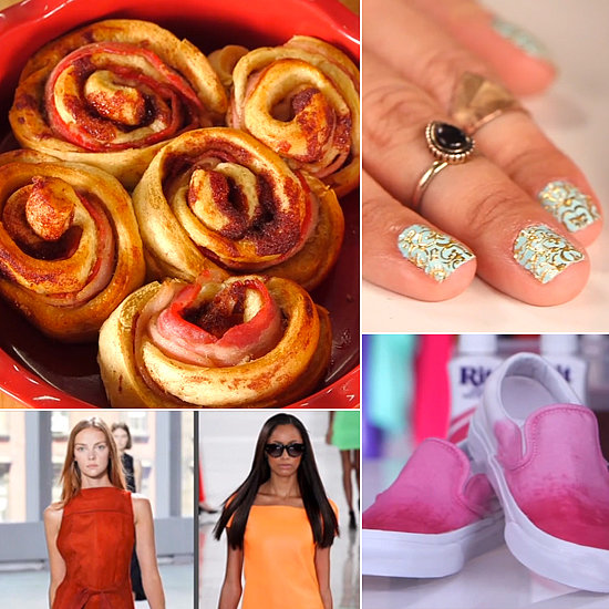 Bacon Cinnamon Rolls, Ombré Kicks, and Marchesa Nail Art: The Best of POPSUGARTV This Week