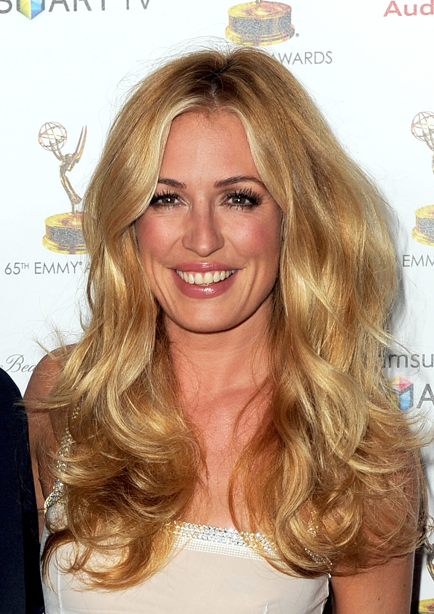 Cat Deeley opted for a huge, voluminous blowout for the Academy of Television Arts & Sciences' Emmy Awards Nominee Reception.