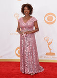 Actress Alfre Woodard walked the Emmys red carpet.