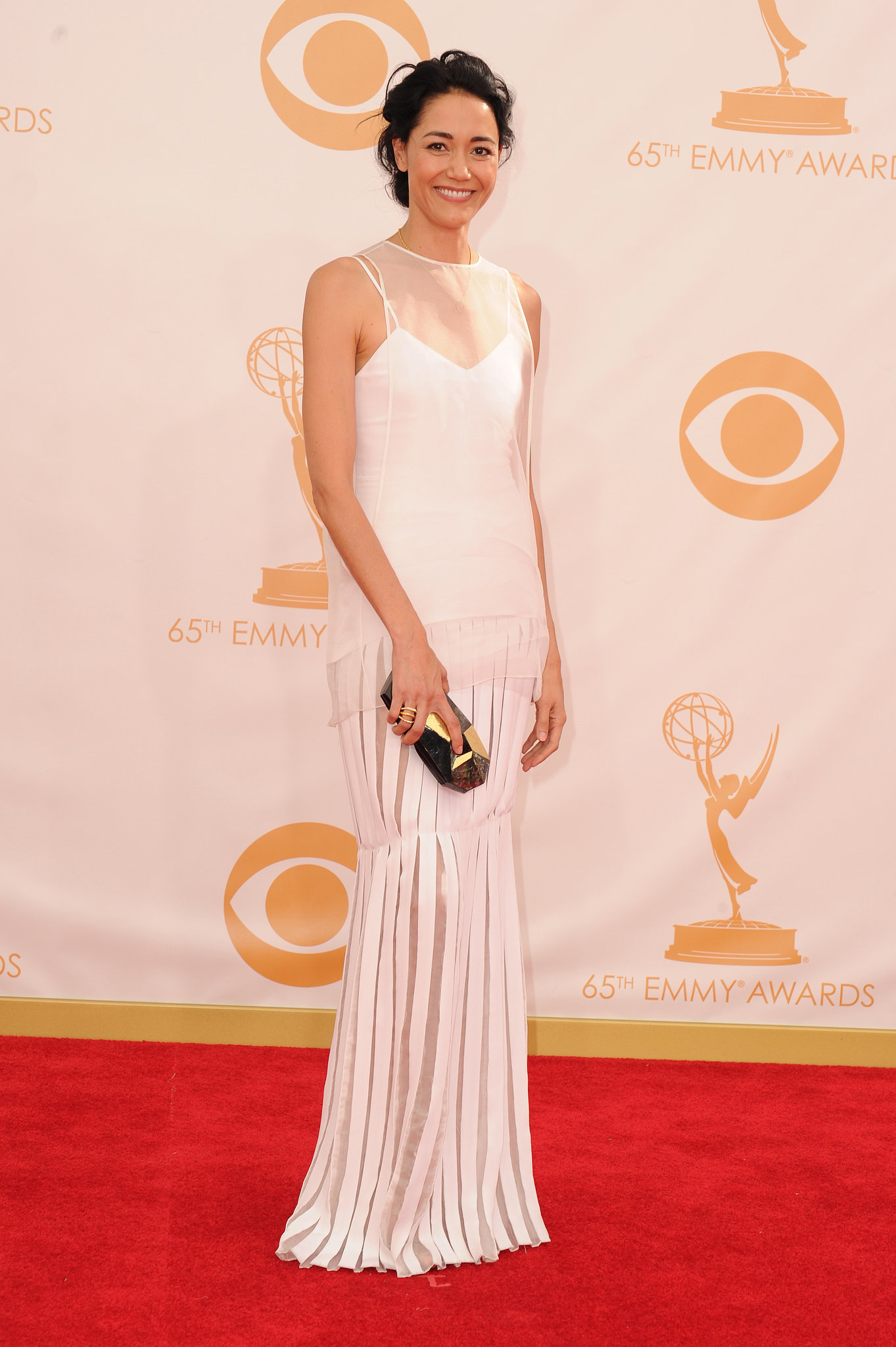 Sandrine Holt stepped out for the Emmys.