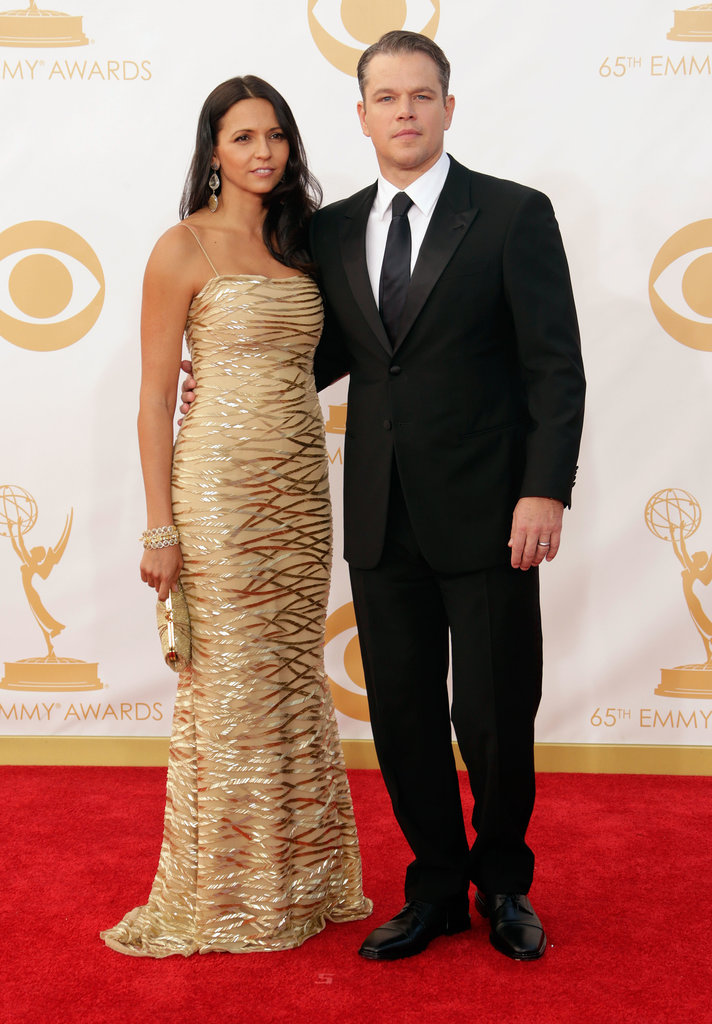 Matt Damon and Luciana Damon hit the red carpet for the Emmy Awards in LA.