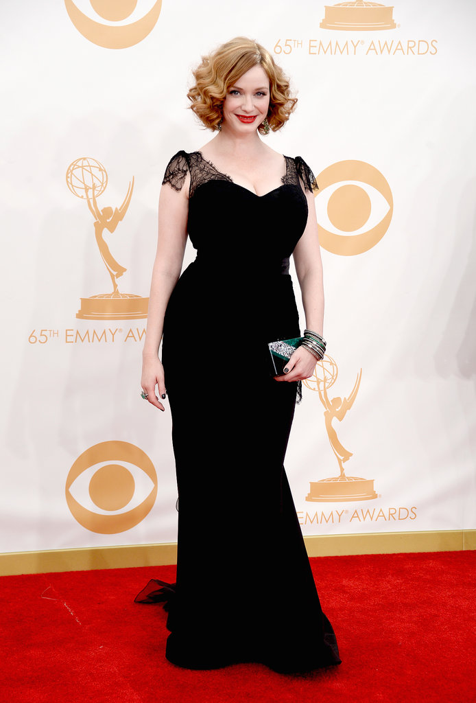 Mad Men's Christina Hendricks struck a pose on the red carpet.