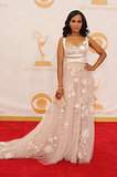 Kerry Washington wore a Marchesa dress at the Emmys.