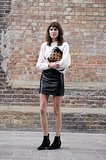 Alexa Chung in Topshop and Burberry