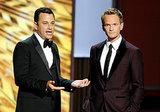 Jimmy Kimmel joked around with Neil Patrick Harris on stage.