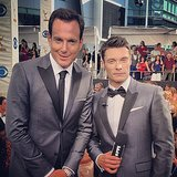 Ryan Seacrest and Will Arnett got matchy-matchy with their suits. Source: Instagram user ryanseacrest