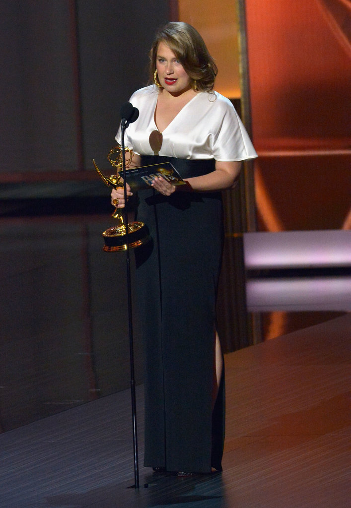 Merritt Wever gave a very quick acceptance speech after winning best supporting actress in a comedy.